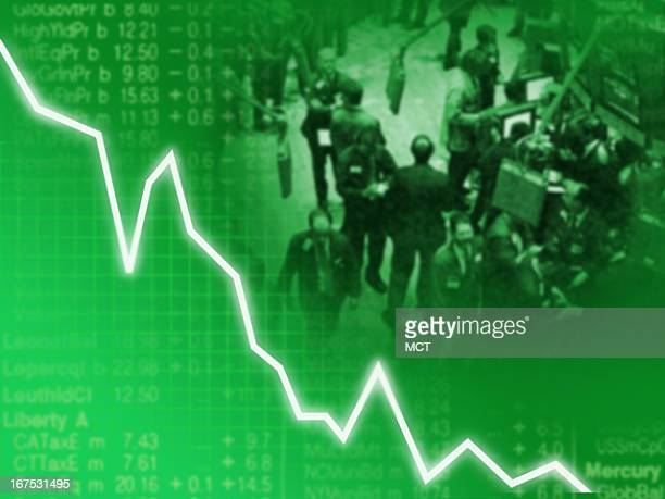 x 1535 in / 52x39 mm / 177x133 pixels Image of fever line going down with stock market picture in background