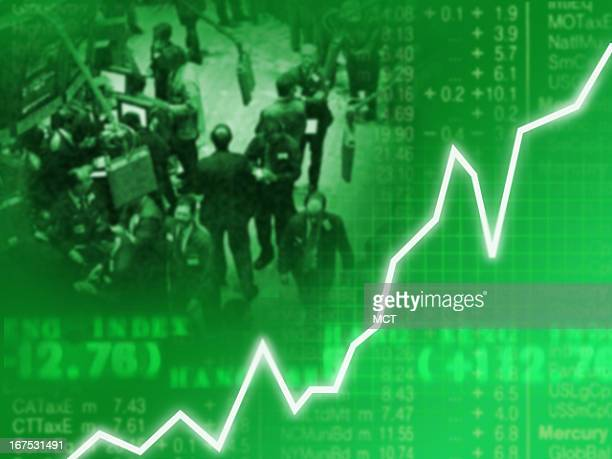 x 1535 in / 52x39 mm / 177x133 pixels Image of fever line going up with picture of stock market in background