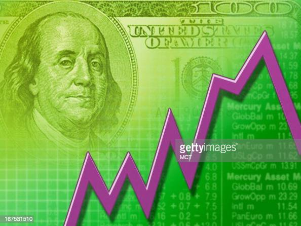 x 1535 in / 52x39 mm / 177x133 pixels Image of feverline suprimposed over stock market report US currency