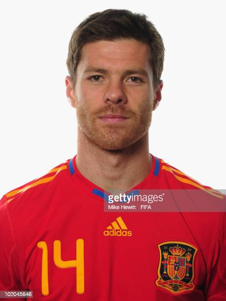 Xabi Alonso of Spain poses during the official Fifa World Cup 2010 portrait session on June 13 2010 in Potchefstroom South Africa