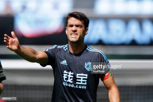 Xabi Prieto midfielder of Real Sociedad de Futbol during the La Liga Santander match between Celta de Vigo and Real Sociedad de Futbol at Balaidos...