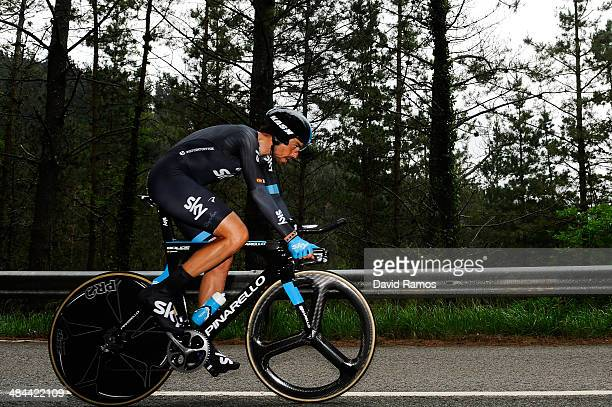 Xabier Zandio of Spain and Team Sky in action during Stage Six of Vuelta al Pais Vasco on April 12 2014 in Markina Spain