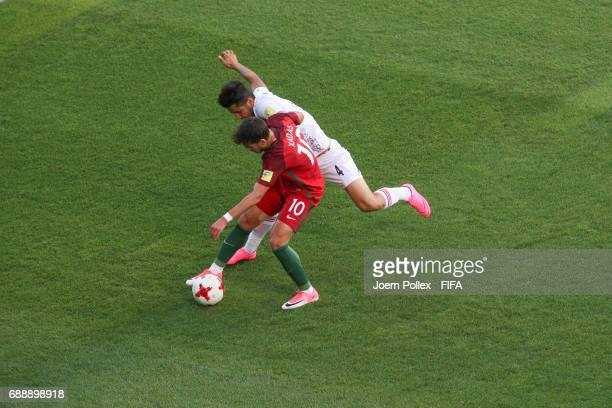 Xadas of Portugal and Aref Gholami of Iran during the FIFA U20 World Cup Korea Republic 2017 group C match between Portugal and Iran at Incheon...