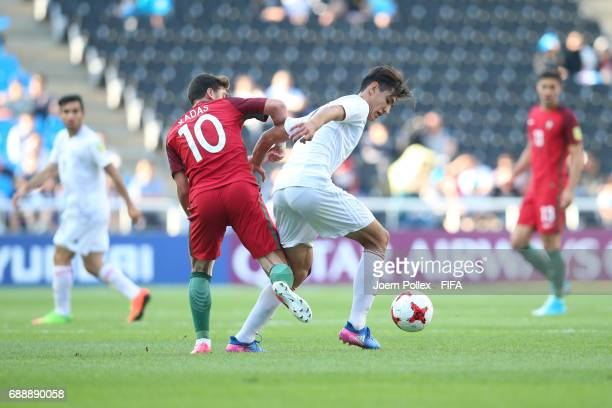 Xadas of Portugal and Siena Khadempour of Iran during the FIFA U20 World Cup Korea Republic 2017 group C match between Portugal and Iran at Incheon...