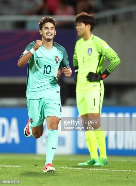 Xadas of Portugal celebrates after scoring his teams third goal during the FIFA U20 World Cup Korea Republic 2017 Round of 16 match between Korea...