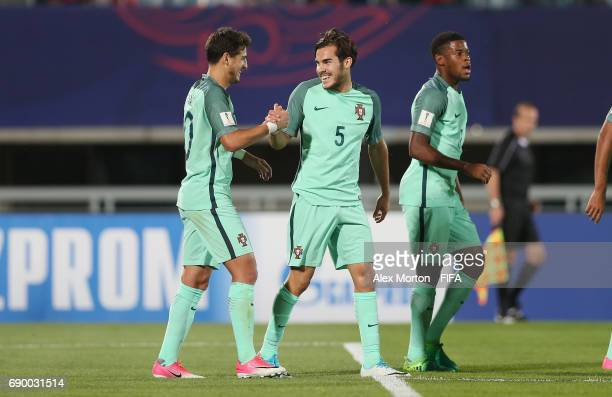 Xadas of Portugal celebrates after scoring their first goal during the FIFA U20 World Cup Korea Republic 2017 Round of 16 match between Korea...