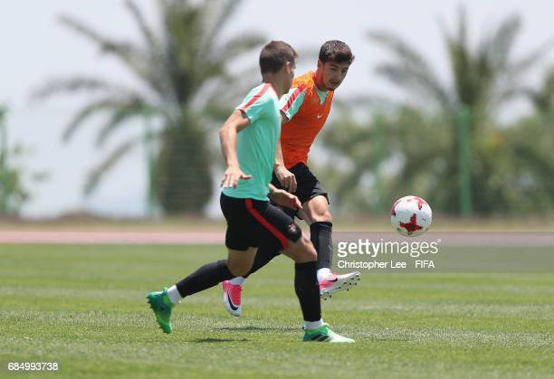 Xadas of Portugal in action during their training Session at Kang Chang Hak Stadium on May 19 2017 in Jeju South Korea