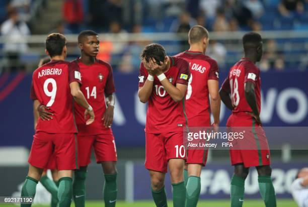 Xadas of Portugal looks dejected after losing in a penalty shoot out to Uruguay in the FIFA U20 World Cup Korea Republic 2017 Quarter Final match...