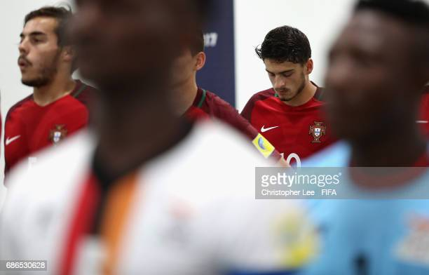Xadas of Portugal psychs himself up as he waits in the tunnel during the FIFA U20 World Cup Korea Republic 2017 group C match between Zambia and...