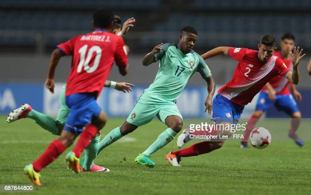Xande Silva of Portugal battles with Diego Mesen of Costa Rica during the FIFA U20 World Cup Korea Republic 2017 group C match between Costa Rica and...