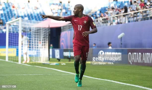 Xande Silva of Portugal celebrates after scoring his teams first goal during the FIFA U20 World Cup Korea Republic 2017 Quarter Final match between...