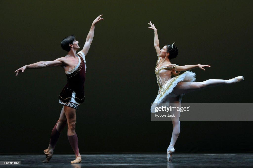 Xander Parish and Yasmine Naghdi in the Royal Ballet's production Sylvia at Hull New Theatre on September 15, 2017 in Hull, England.