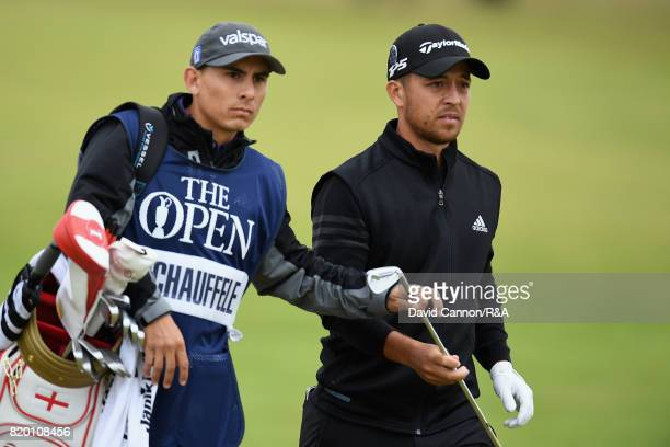 Xander Schauffele of the United States looks on during the second round of the 146th Open Championship at Royal Birkdale on July 21 2017 in Southport...