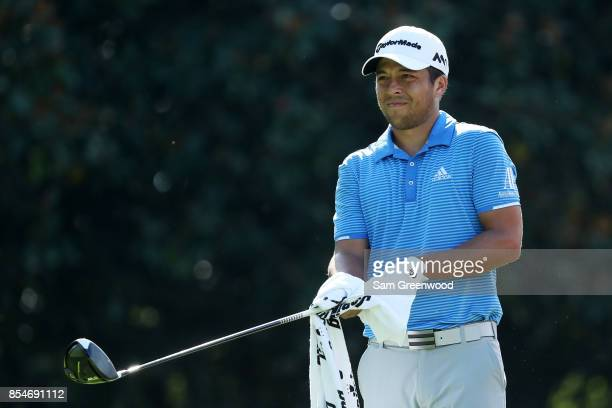 Xander Schauffele of the United States plays a shot during the final round of the TOUR Championship at East Lake Golf Club on September 24 2017 in...