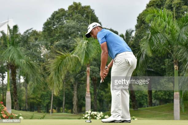 Xander Schauffele of USA in action during the first round of the CIMB Classic 2017 golf tournament on October 12 2017 at TPC Kuala Lumpur Malaysia