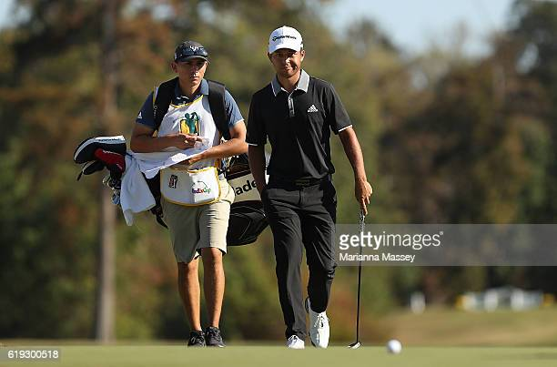 Xander Schauffele walks onto the 17th hole during the Final Round of the Sanderson Farms Championship at the Country Club of Jackson on October 30...