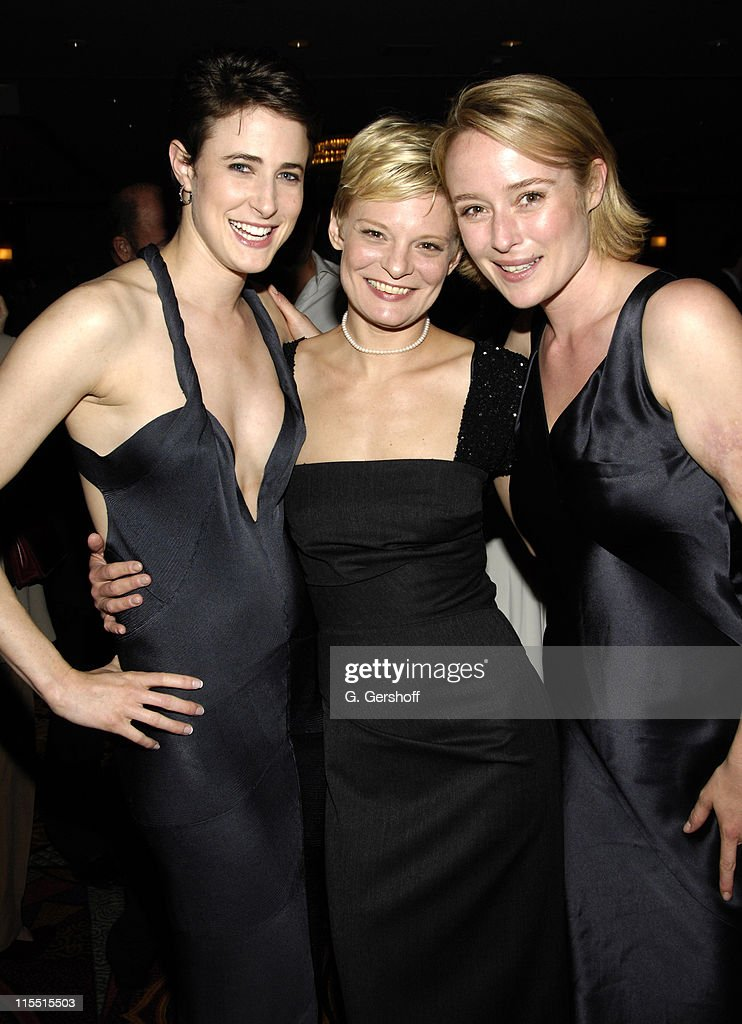 Xanthe Elbrick, Martha Plimpton and Jennifer Ehle during 61st Annual Tony Awards - The Evening Before... at Hilton New York in New York City, New York, United States.