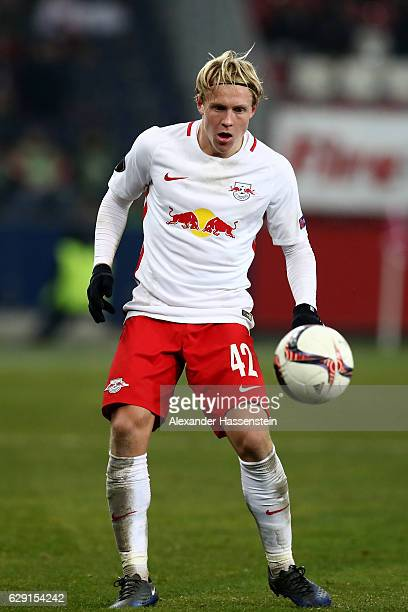 Xaver Schlager Salzburg Runs Ball Uefa Europa Picture Stock Photos Pictures Getty Images
