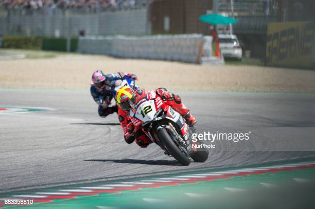 Xavi Fores Ducati Panigale R Barni Racing Team during the Superbike race 2 during the World Superbikes Race at Enzo amp Dino Ferrari Circuit on May...