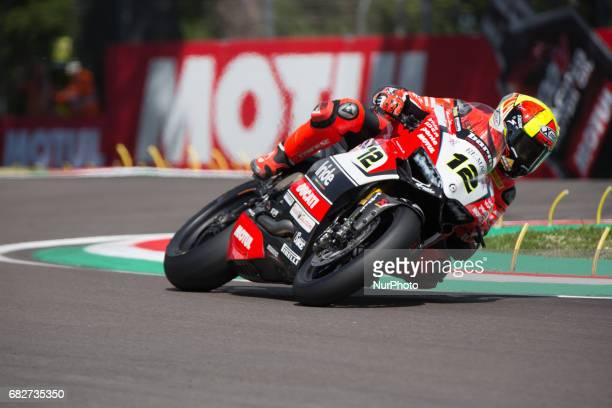Xavi Fores Ducati Panigale R Barni Racing Team Official WorldSBK Team WorldSBK Team during the Superbike race 1 during the World Superbikes Race at...