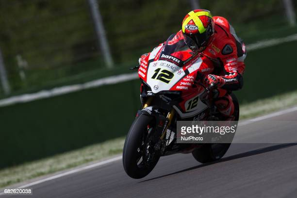 Xavi Fores of Barni Racing Team during the Superpole 2 of the Motul FIM Superbike Championship Italian Round at International Circuit quotEnzo and...
