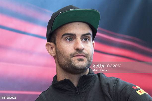 Xavi Fores of Spain and Barni Racing Team looks on during the Paddock Show during the FIM Superbike World Championship Preview at Misano World...