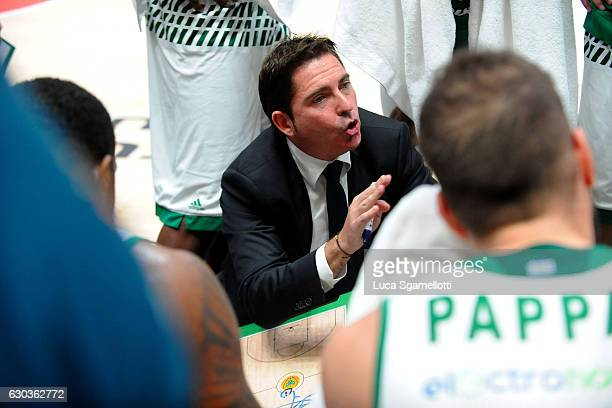 Xavi Pascual Head Coach of Panathinaikos Superfoods Athens during the 2016/2017 Turkish Airlines EuroLeague Regular Season Round 13 game between EA7...