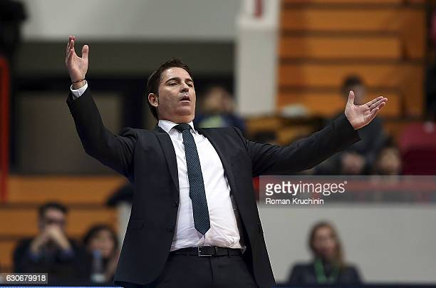Xavi Pascual Head Coach of Panathinaikos Superfoods Athens in action during the 2016/2017 Turkish Airlines EuroLeague Regular Season Round 15 game...