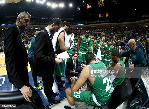 Xavi Pascual Head Coach of Panathinaikos Superfoods Athens in action during the 2016/2017 Turkish Airlines EuroLeague Regular Season Round 18 game...