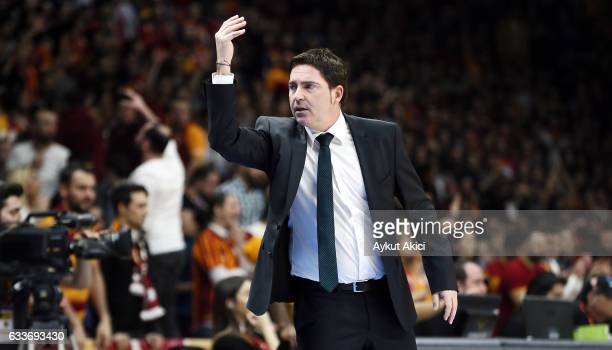 Xavi Pascual Head Coach of Panathinaikos Superfoods Athens in action during the 2016/2017 Turkish Airlines EuroLeague Regular Season Round 21 game...
