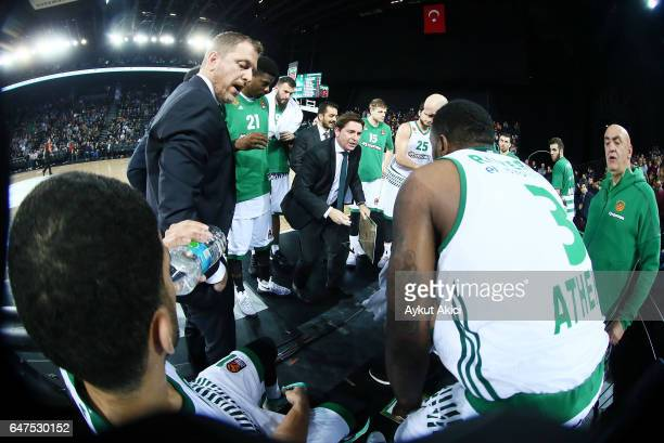 Xavi Pascual Head Coach of Panathinaikos Superfoods Athens in action during the 2016/2017 Turkish Airlines EuroLeague Regular Season Round 24 game...