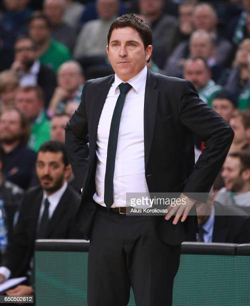 Xavi Pascual Head Coach of Panathinaikos Superfoods Athens in action during the 2016/2017 Turkish Airlines EuroLeague Regular Season Round 25 game...