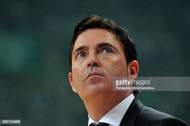 Xavi Pascual Head Coach of Panathinaikos Superfoods Athens react during the 2016/2017 Turkish Airlines EuroLeague Regular Season Round 12 game...