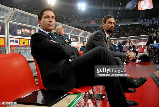Xavi Pascual Head Coach of Panathinaikos Superfoods Athens react during the 2016/2017 Turkish Airlines EuroLeague Regular Season Round 16 game...
