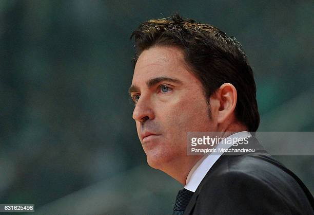 Xavi Pascual Head Coach of Panathinaikos Superfoods Athens react during the 2016/2017 Turkish Airlines EuroLeague Regular Season Round 17 game...