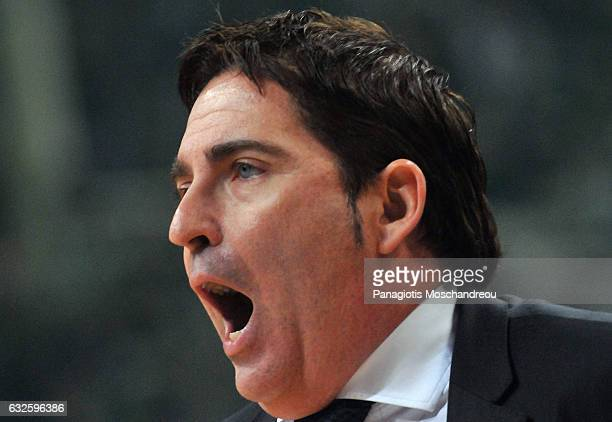 Xavi Pascual Head Coach of Panathinaikos Superfoods Athens react during the 2016/2017 Turkish Airlines EuroLeague Regular Season Round 19 game...