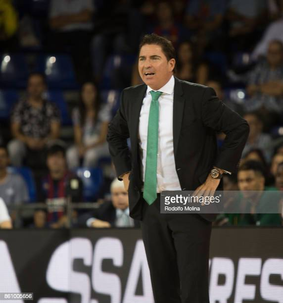 Xavi Pascual Head Coach of Panathinaikos Superfoods Athensin action during the 2017/2018 Turkish Airlines EuroLeague Regular Season Round 1 game...