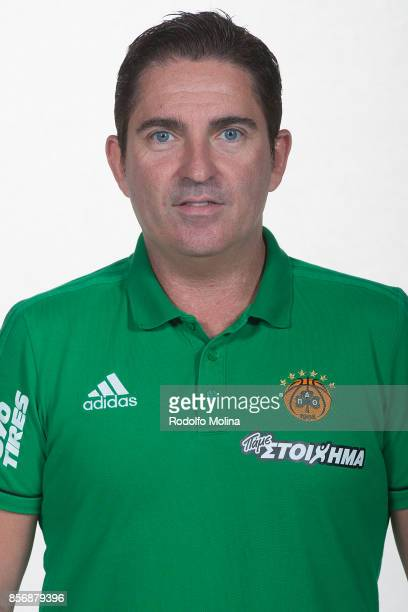 Xavi Pascual Head Coach poses during Panathinaikos Superfoods Athens 2017/2018 Turkish Airlines EuroLeague Media Day at Olympic Sports Center Athens...