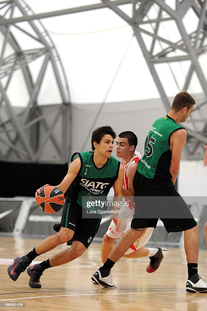 Xavier Assalit, #9 of Club Joventut Badalona in action during the Nike International Junior Tournament game between Club Joventut Badalona v Crvena Zvezda Telekom at London Soccerdome on May 10, 2013 in London, United Kingdom.