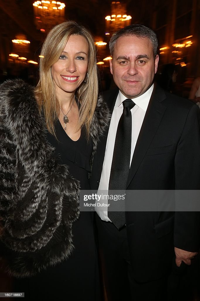 Xavier Bertrand and wife attend the David Khayat Association 'AVEC' Gala Dinner at Chateau de Versailles on February 4, 2013 in Versailles, France.