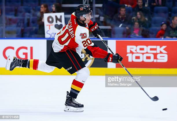 Xavier Bouchard of the Baie Comeau Drakkar skates against the Quebec Remparts during their QMJHL hockey game at the Centre Videotron on October 14...