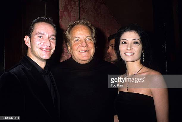 Xavier Brunet Massimo Gargia and Allison Adoue during Chivas Royal Christmas 2005 Party at Castel Club in Paris France