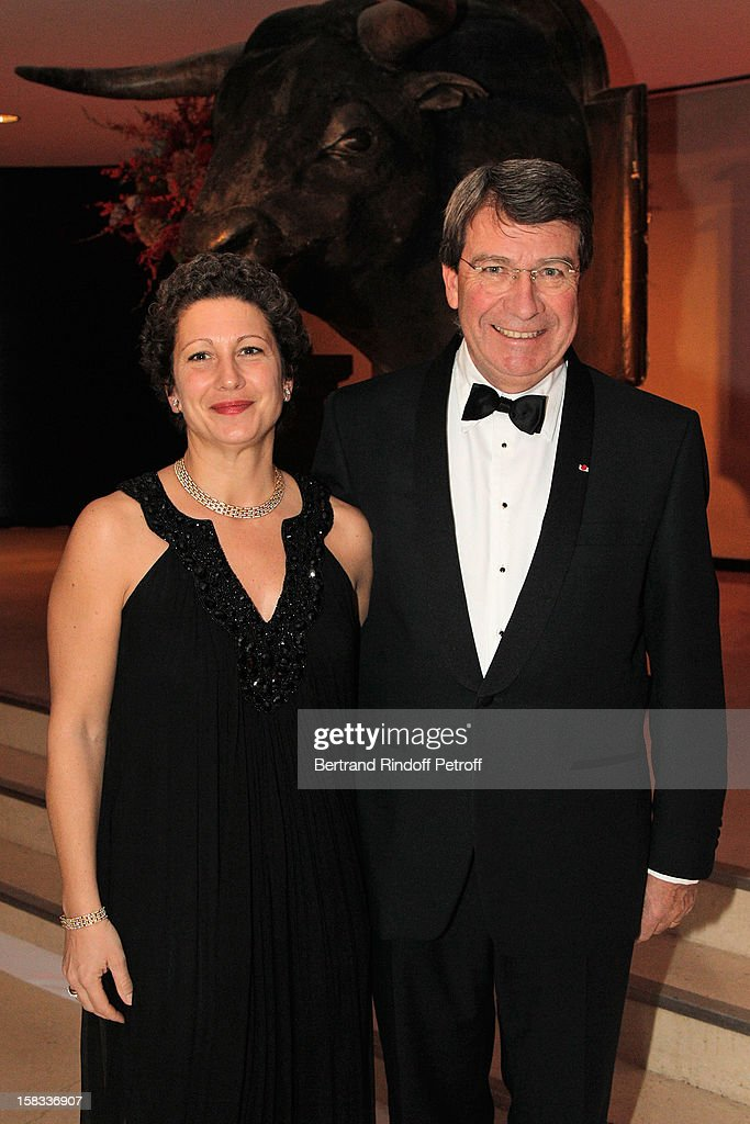 Xavier Darcos (R) and his wife Laure attend the Arop Gala Event for Carmen New Production Launch at Opera Bastille on December 13, 2012 in Paris, France.
