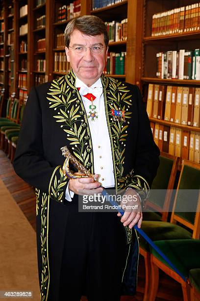 Xavier Darcos becomes a Member of the Academie Francaise Official Ceremony at Academie Francaise on February 12 2015 in Paris France
