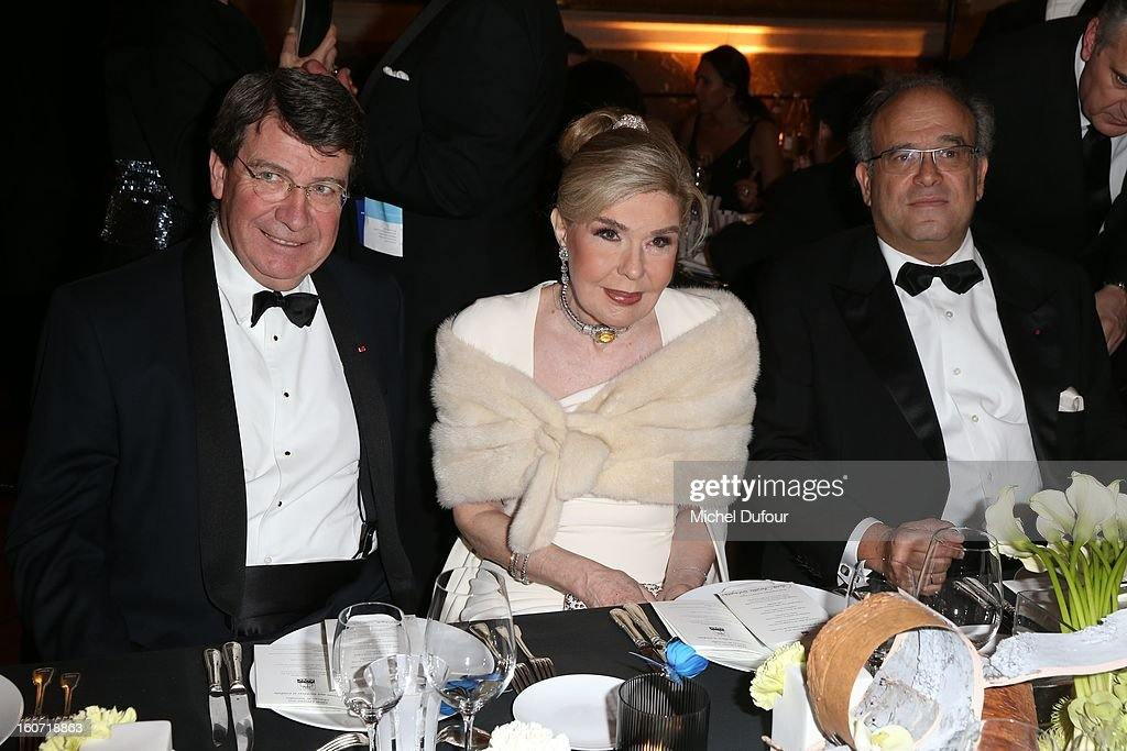 Xavier Darcos, Marianna Vadinoryanis and David Khayat attend the David Khayat Association 'AVEC' Gala Dinner at Chateau de Versailles on February 4, 2013 in Versailles, France.
