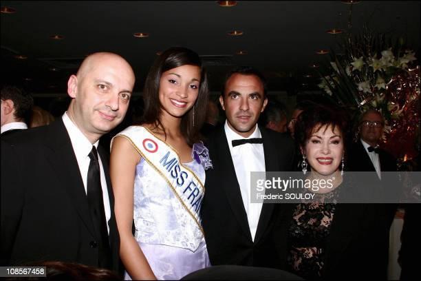 Xavier de Fontenay Cindy Fabre Nikos Aliagas and Rika Zarai in Paris France on December 08th 2004