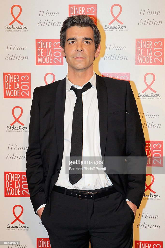 Xavier de Moulins poses as he arrives to attend the Sidaction Gala Dinner 2013 at Pavillon d'Armenonville on January 24, 2013 in Paris, France.