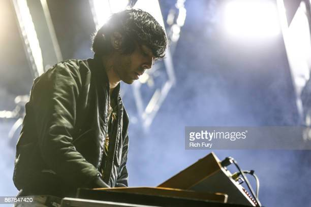 Xavier de Rosnay of Justice performs on the Flog Stage during day 1 of Camp Flog Gnaw Carnival 2017 at Exposition Park on October 28 2017 in Los...