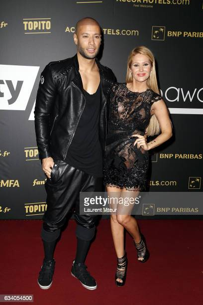 Xavier Delarue and Tatiana Laurens Delarue attend the '4th Melty Future Awards' at Le Grand Rex on February 6 2017 in Paris France