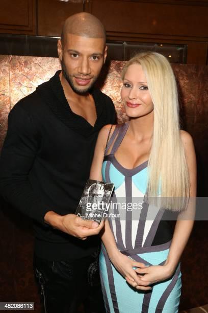 Xavier Delarue and Tatiana Laurens Delarue attend the 'Penati Al Baretto' Opening Dinner at Hotel De Vigny on April 2 2014 in Paris France